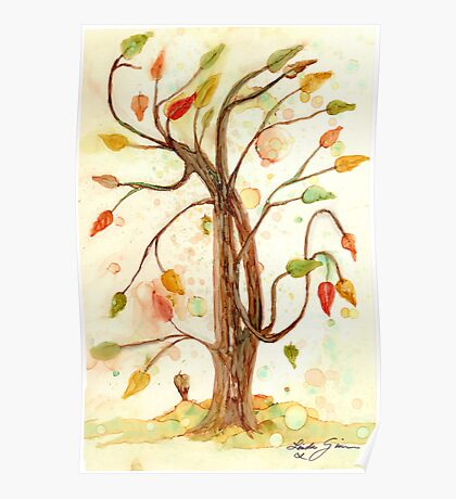 Whimsy Tree Poster