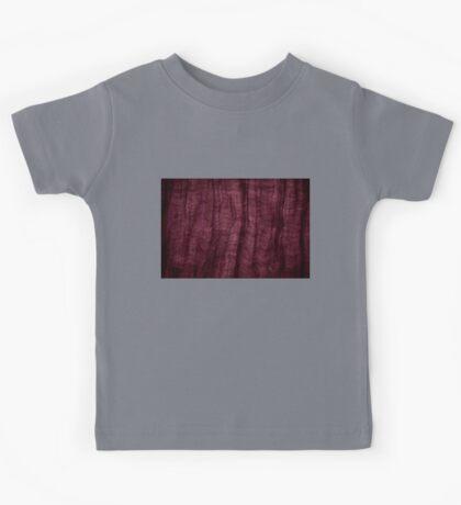 Burgundy grunge cloth texture Kids Tee