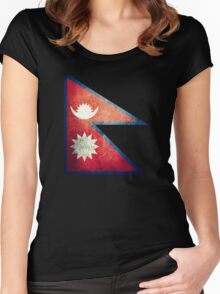 Nepal - Vintage Women's Fitted Scoop T-Shirt
