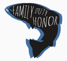 Family, Duty, Honor Kids Clothes