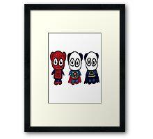 Super Pandas Framed Print