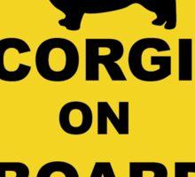 Corgi on Board Sticker