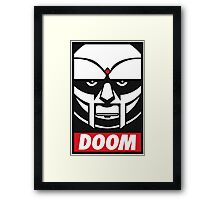 MF DOOM OBEY Framed Print