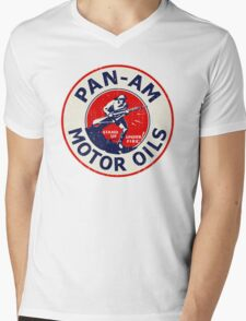 Pan Am Motor Oils Mens V-Neck T-Shirt