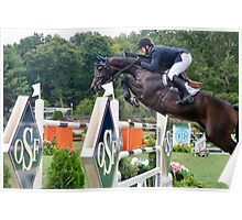 Horse showjumping Poster