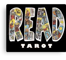 Be Well Read - READ TAROT (Black) Canvas Print