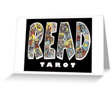 Be Well Read - READ TAROT (Black) Greeting Card