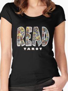 Be Well Read - READ TAROT (Black) Women's Fitted Scoop T-Shirt