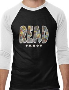 Be Well Read - READ TAROT (Black) Men's Baseball ¾ T-Shirt