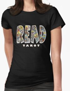 Be Well Read - READ TAROT (Black) Womens Fitted T-Shirt