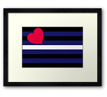 Leather, Latex and BDSM Pride Flag Framed Print