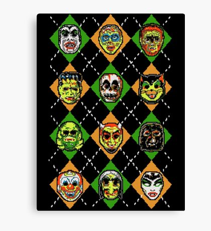 Scary Christmask Canvas Print