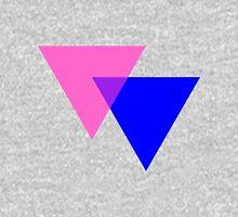 Bisexual Pride Symbol- Triangles Unisex T-Shirt