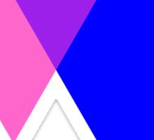 Bisexual Pride Symbol- Triangles Sticker