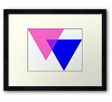 Bisexual Pride Symbol- Triangles Framed Print