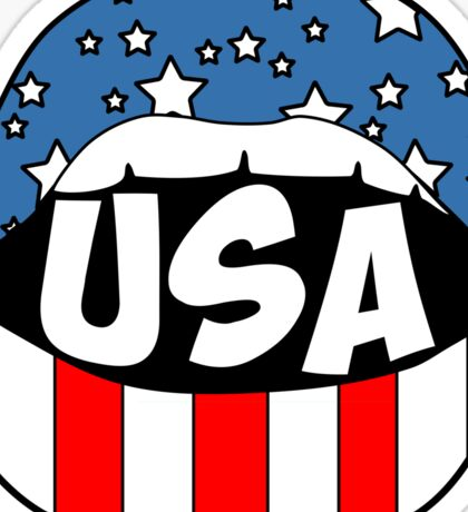 USA Lips Sticker