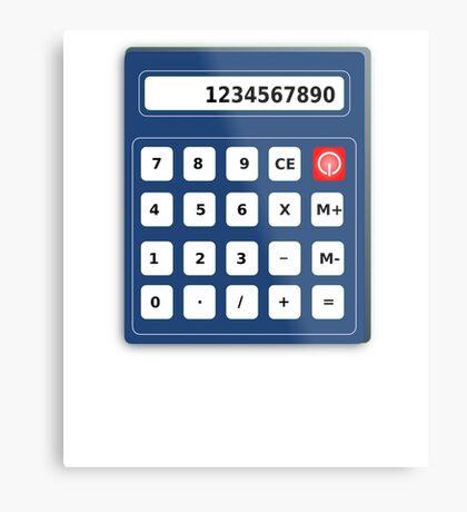Human Calculator Cool Design Math Pi Tshirt Metal Print