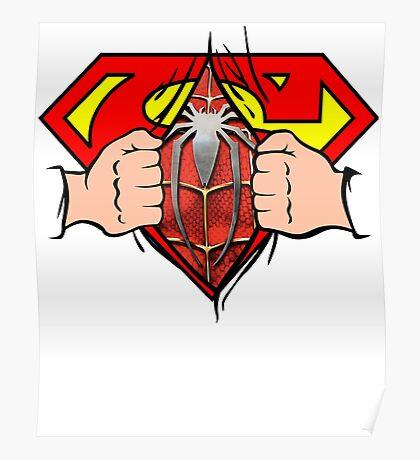 Super Hero Man Spider Hero Man Awesome Shirt Poster
