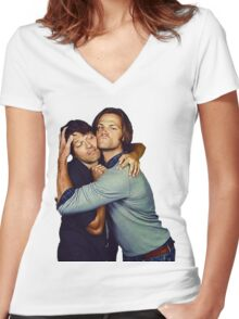 Jared and Misha  Women's Fitted V-Neck T-Shirt