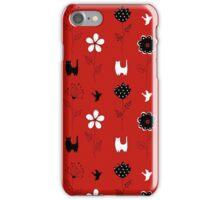 Cats in Garden iPhone Case/Skin