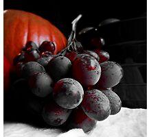 Dark Grapes Photographic Print