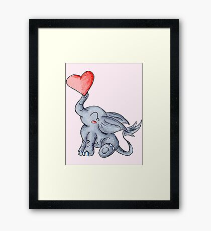 Heart for Baby (Girl) Framed Print