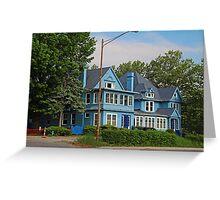 Old West End Blue 30- I Greeting Card