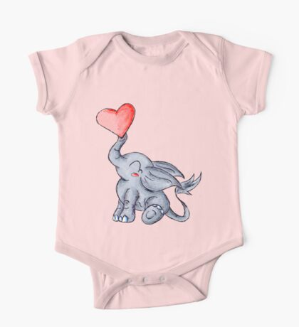 Heart for Baby (Girl) One Piece - Short Sleeve