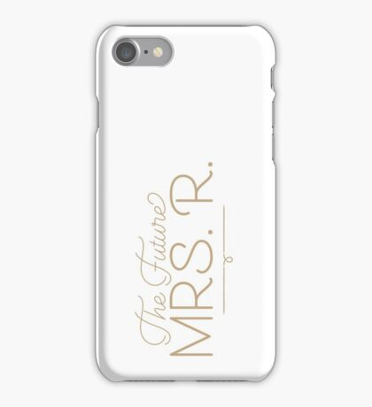The Future Mrs. R Bride-to-Be, Gold iPhone Case/Skin