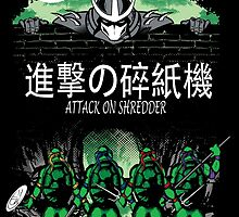 Attack on Shredder (All Turtles) by GreenHRNET