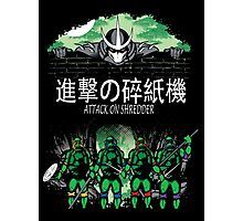 Attack on Shredder (All Turtles) Photographic Print