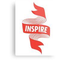 Inspire Banner Metal Print