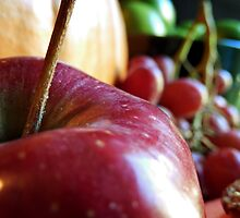 Macro of an Apple by Sandra  Aguirre