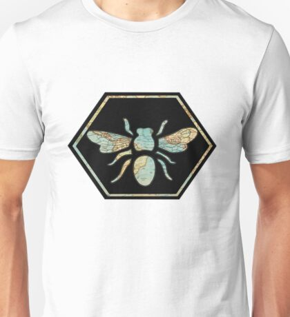 Honey Bee Hexagon Unisex T-Shirt