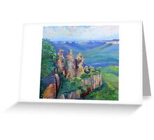 Three Sisters Echo Point, Blue Mountians NSW. Greeting Card