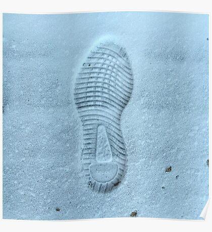 Yeezy Boost 350 Snow Print Poster