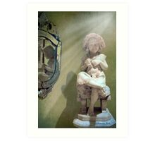 Little Knitter ~ Reflections of Old Art Print