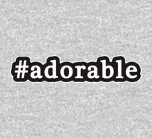 Adorable - Hashtag - Black & White One Piece - Long Sleeve
