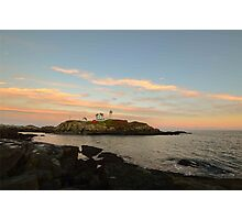 Nubble Dusk Photographic Print