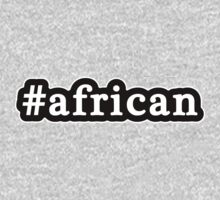 African - Hashtag - Black & White Kids Clothes