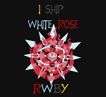 I Ship White Rose Womens Fitted T-Shirt