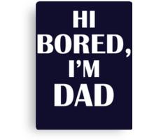 Dad Jokes (White) Canvas Print