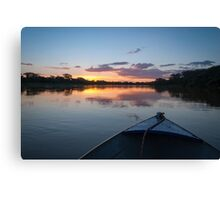 Sunset - Rio Pardo, Brazil Canvas Print