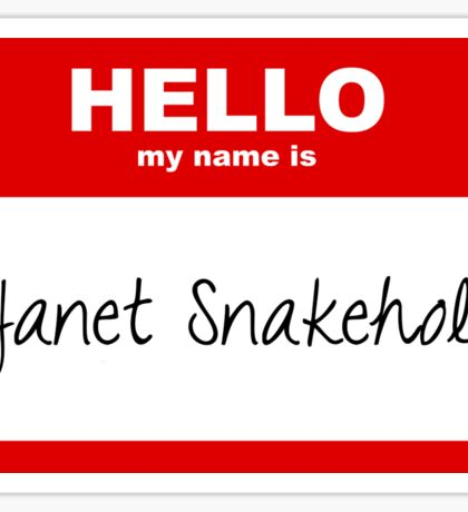 Janet Snakehole Sticker