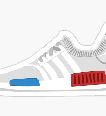 NMD R1 Primeknit white Sticker