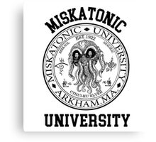 MISKATONIC UNIVERSITY HP LOVECRAFT  Canvas Print