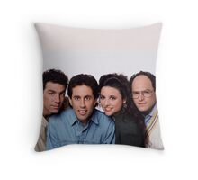 Seinfeld groupe picture Throw Pillow