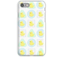 Rubber Duckies (White/Blue) iPhone Case/Skin