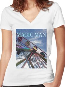 Magic Man--Ionia Free Fair Women's Fitted V-Neck T-Shirt