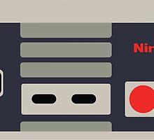 Nintendo NES Controller Sticker by LankySandwich